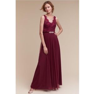 BHLDN Samantha Bridesmaid | Black Cherry | size 18